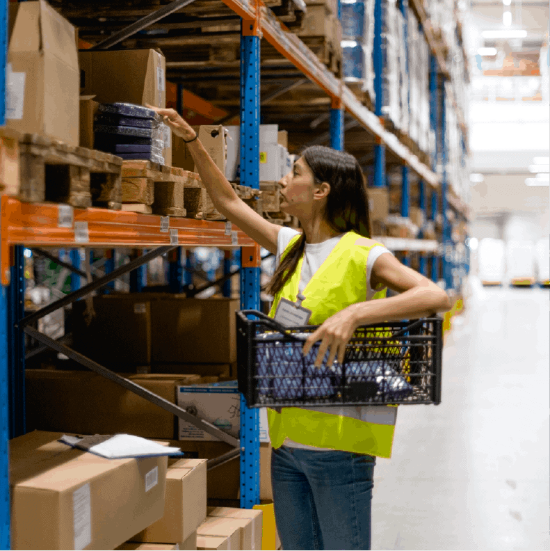 Picking and packing warehouse