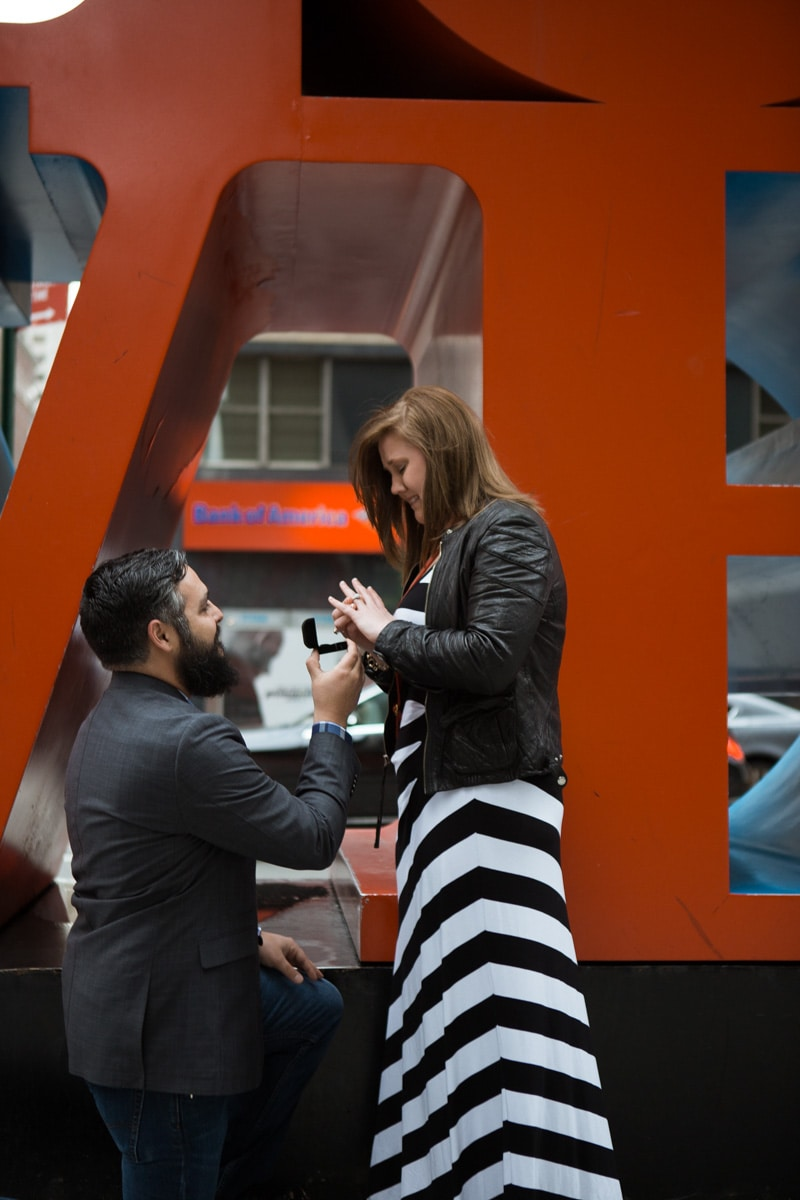 Photo 2 Surprise proposal by Love Sculpture in NYC.   VladLeto