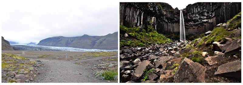 Iceland skaftafell svaartifoss