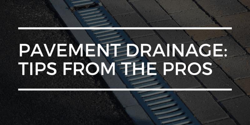 pavement drainage | limitless golden construction