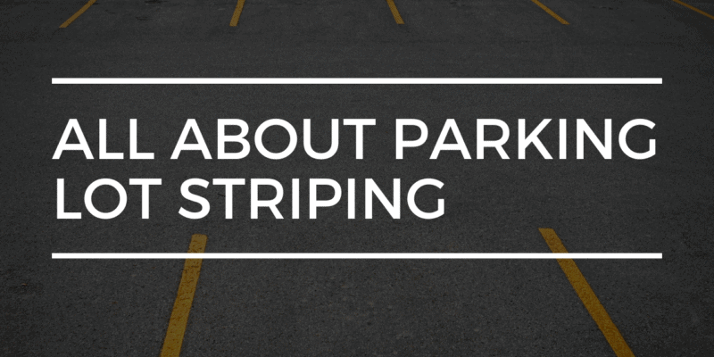all about parking lot striping