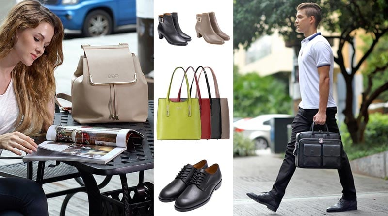 AP-PEEL-ING fashion: shoes, bags, wallets made from apple peel