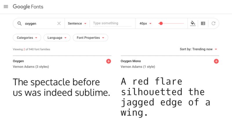 google fonts in web design