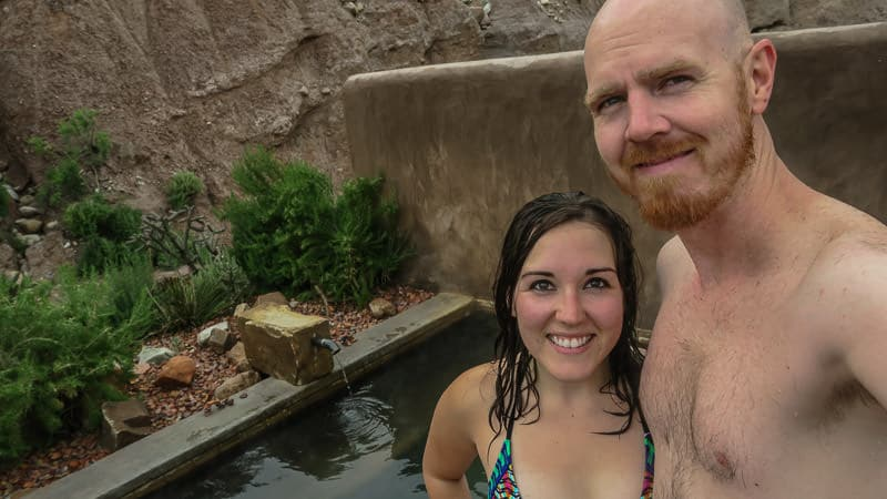 Brooke and Buddy taking a selfie during their romantic getaway in New Mexico