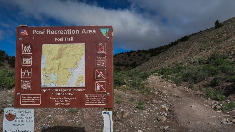 Trail map for the Posi Trail