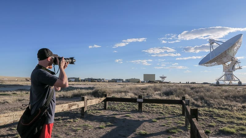 Buddy taking photos of the VLA