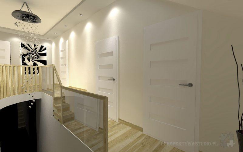 projekt-przedpokoju-projektowanie-wnętrz-lublin-perspektywa-studio-przedpokój-schody-Kaskada-2