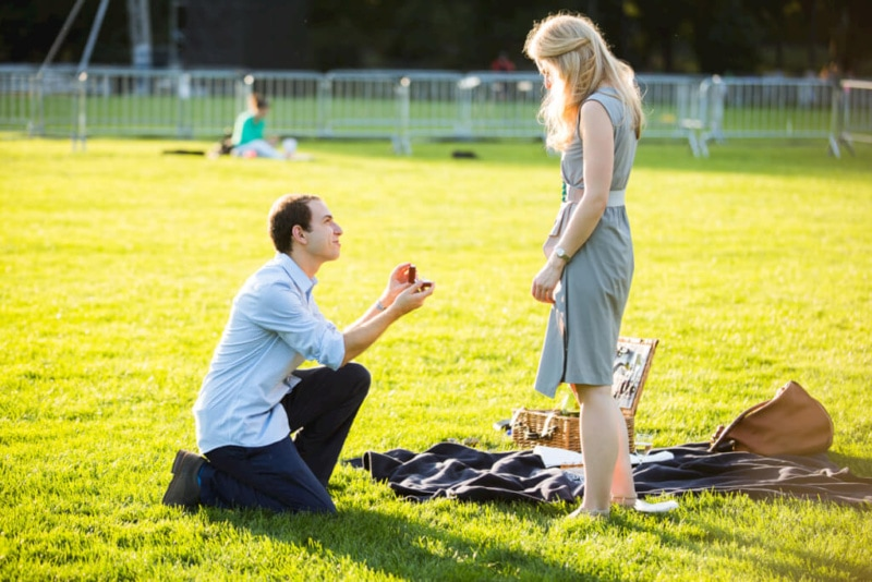 Picnic Proposal in Central Park. Photographer - Vlad Leto