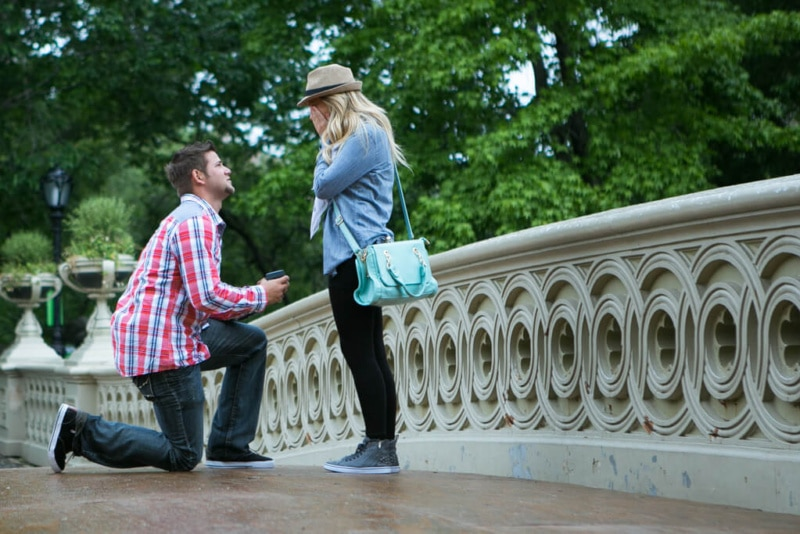 Bow bridge Marriage proposal. Photographer - Vlad Leto