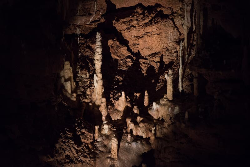 Some of the scenery in the natural bridge caverns Hidden Passages Tour