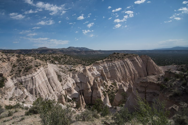 Kasha-Katuwe Tent Rocks National Monument from a viewpoint above