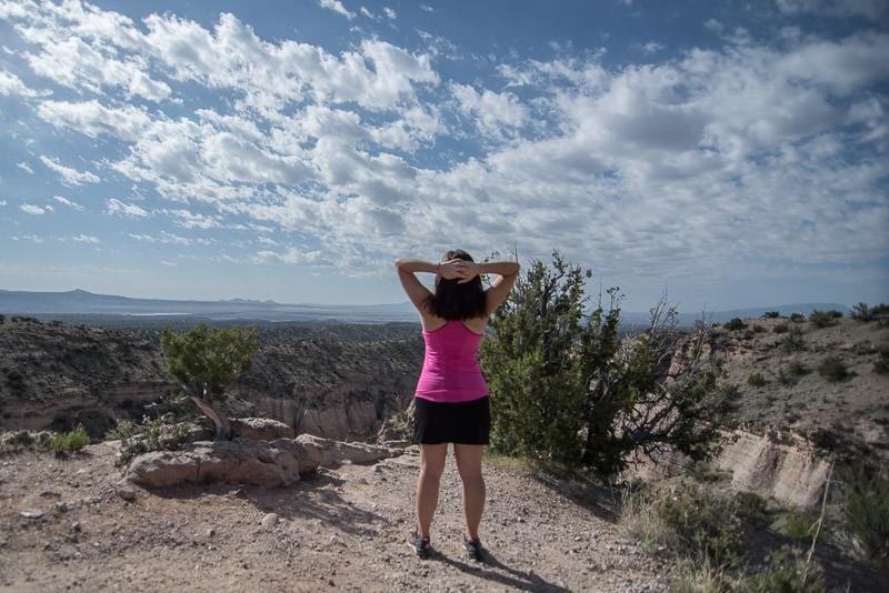Brooke enjoying the views at an overlook Kasha-Katuwe Tent Rocks