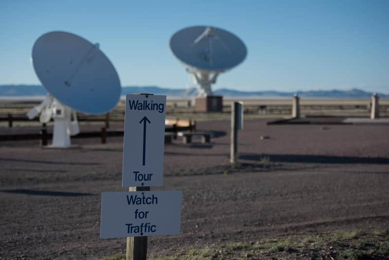 Sign directing you to the walking tour path at the very large array, new mexico