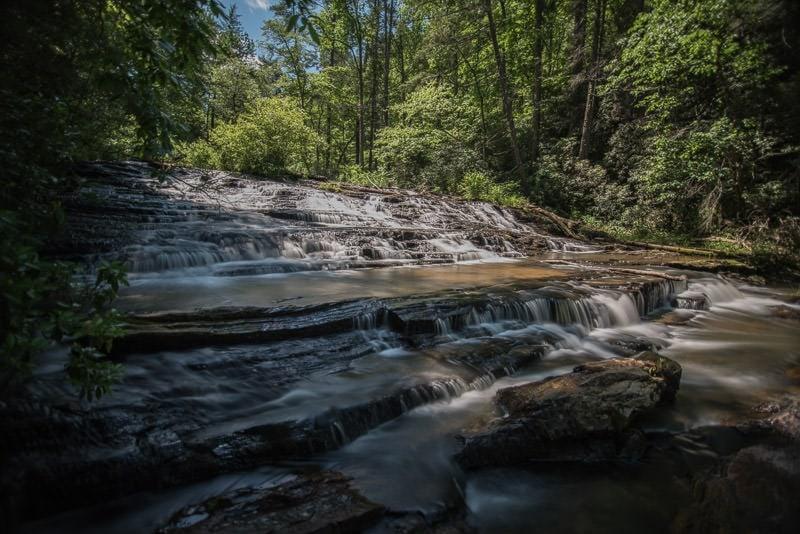 Brasstown Falls near Chattooga Belle Farm in South Carolina