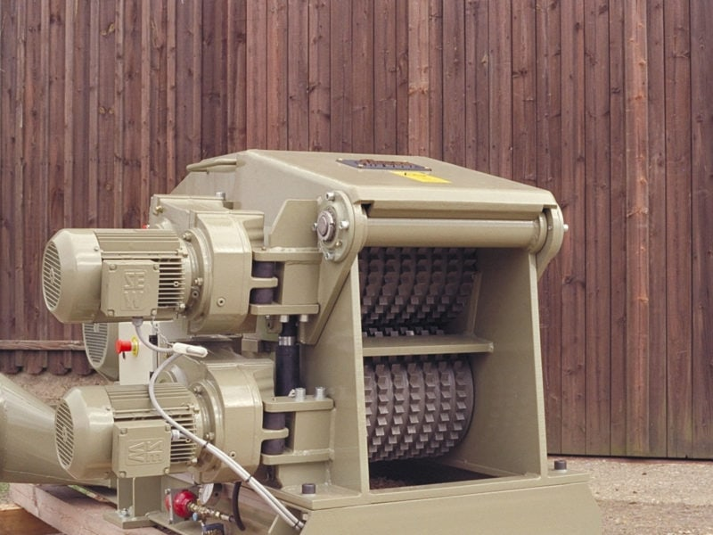 Scanhugger Wood Chipper With Big Feeding Rollers And SEW Engines