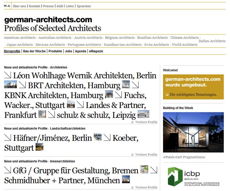 Neue Website von german-architects