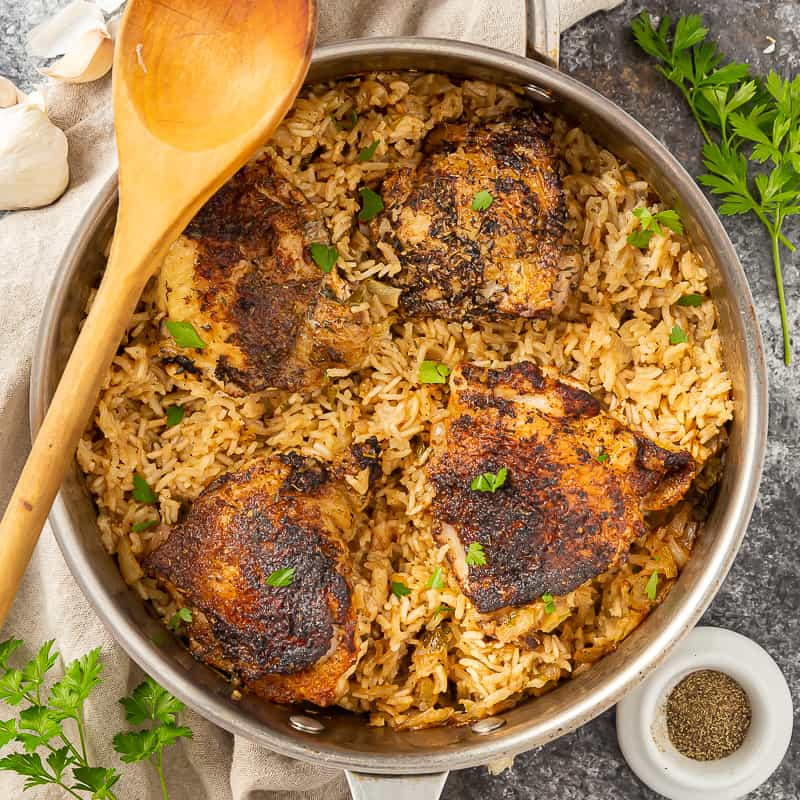 herb baked chicken and rice