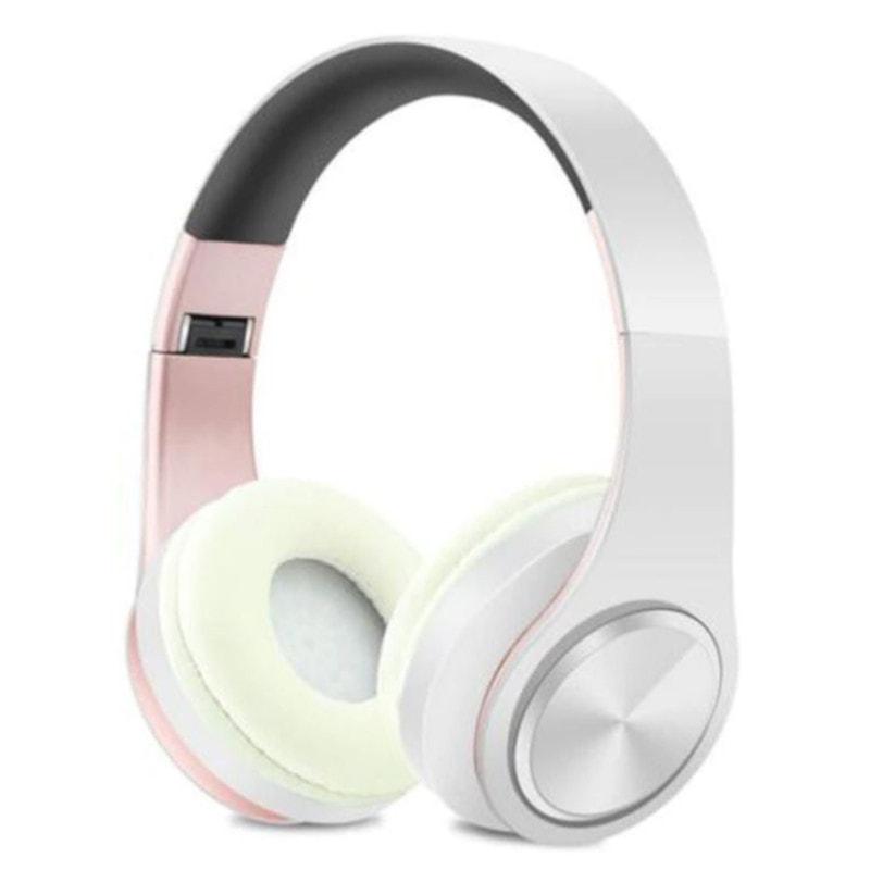 Casti Bluetooth NBY LP660 Alb-Trandafir