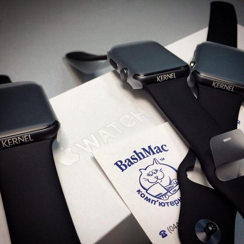 Лазерная гравировка на Apple Watch