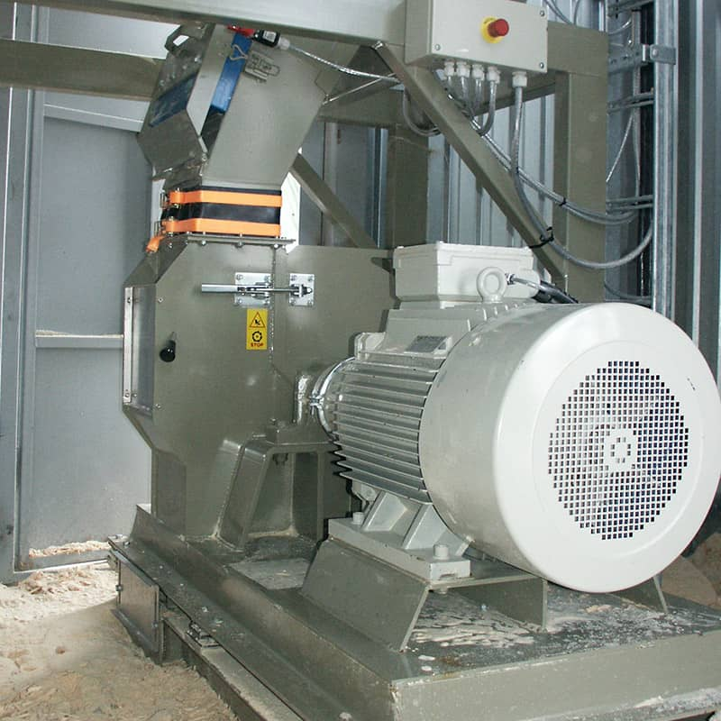 Hammer mill from Scanhugger wood grinder for pettels and briquetting