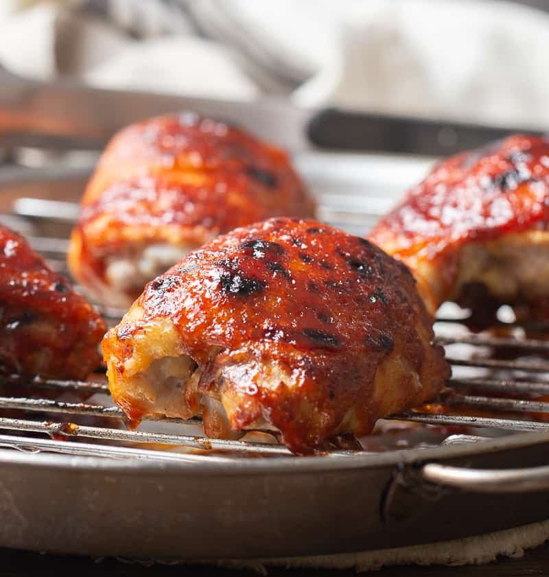Oven Baked BBQ Chicken Thighs