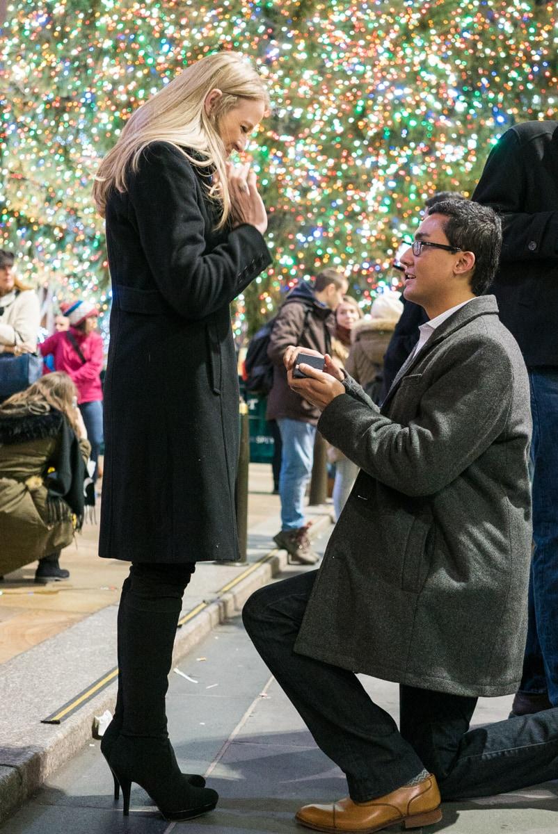 Photo 2 Christmas tree at Rockefeller Center secret proposal   VladLeto