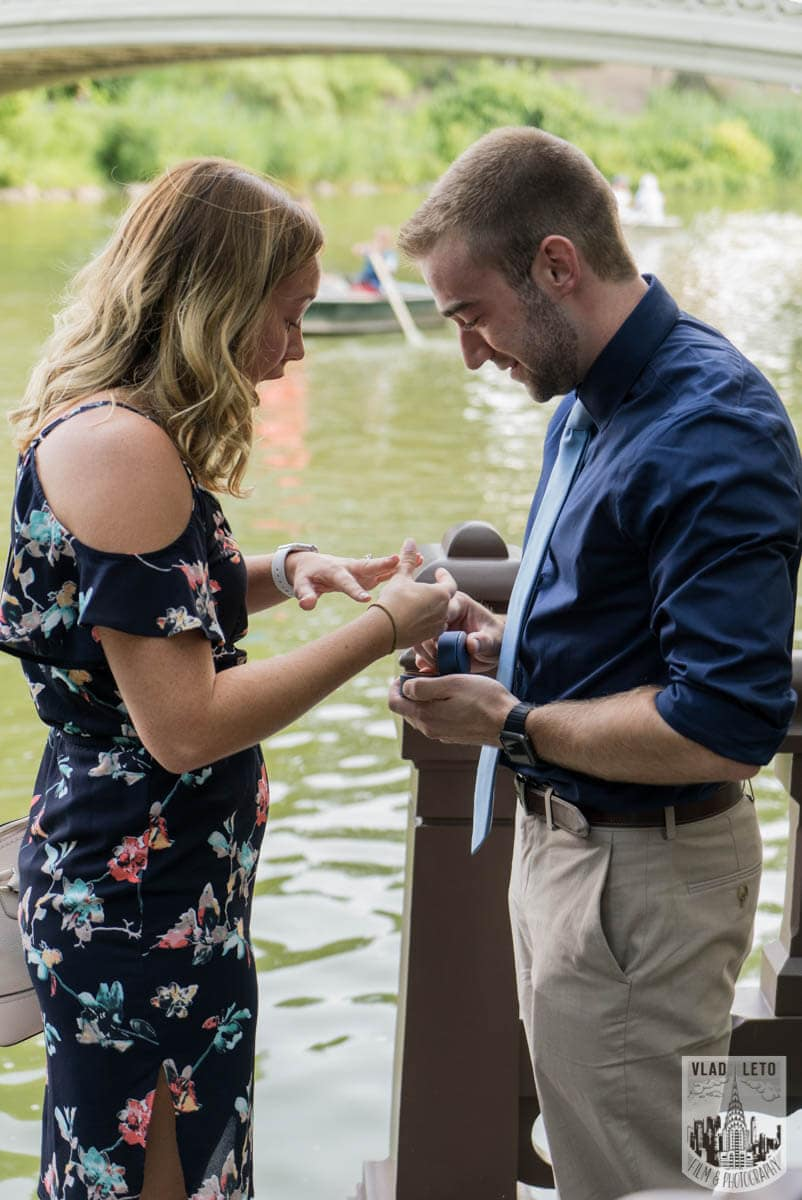 Photo 2 Ben and Kristen Surprise proposal by Bow bridge | VladLeto