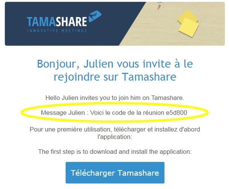 invitation réunion sur écran interactif