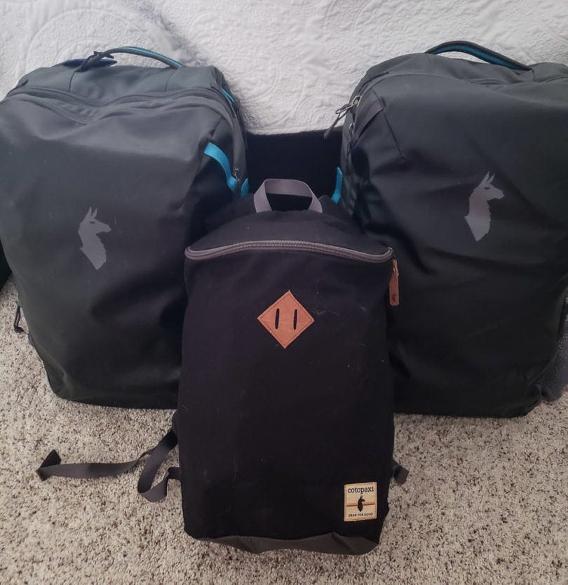 cotopaxi allpa 35l bags and other carry-on bags