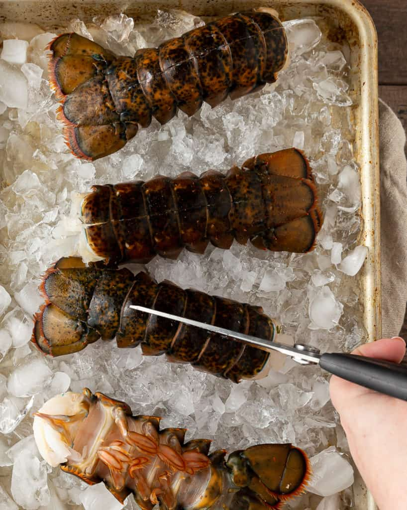 how to cut lobster