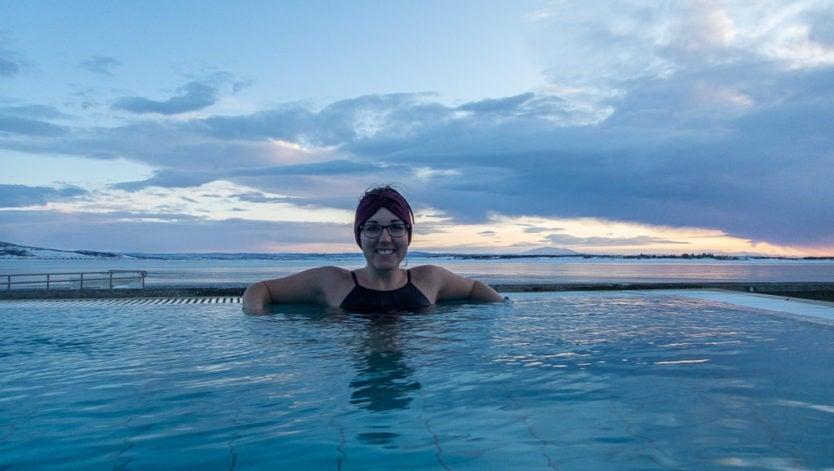 brooke at laugarvatn fontana geothermal baths with lake views