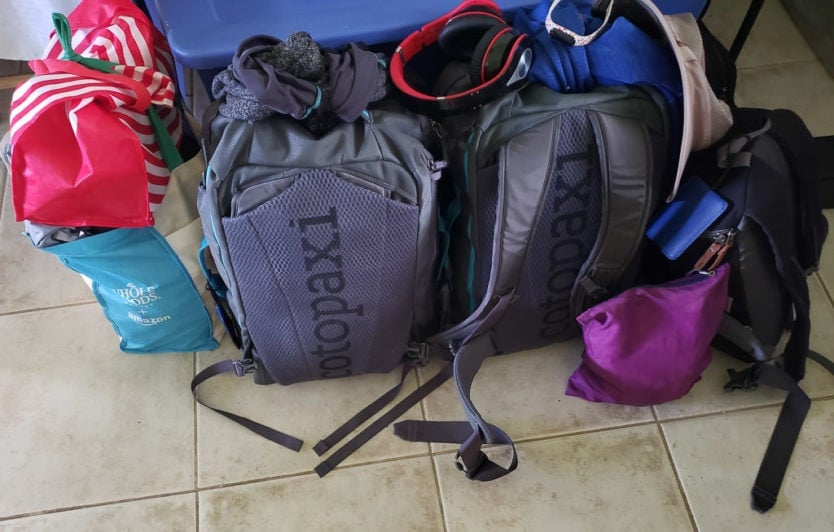 hawaii packing day with carry-on bags