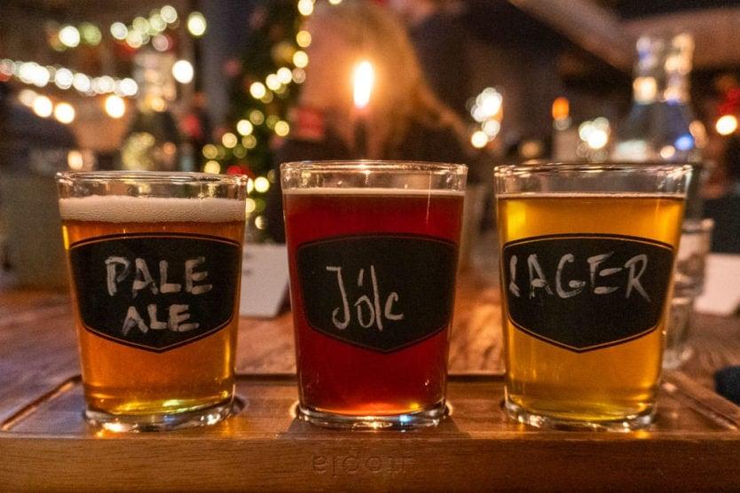Bryggjan Brewery icelandic beer tasting