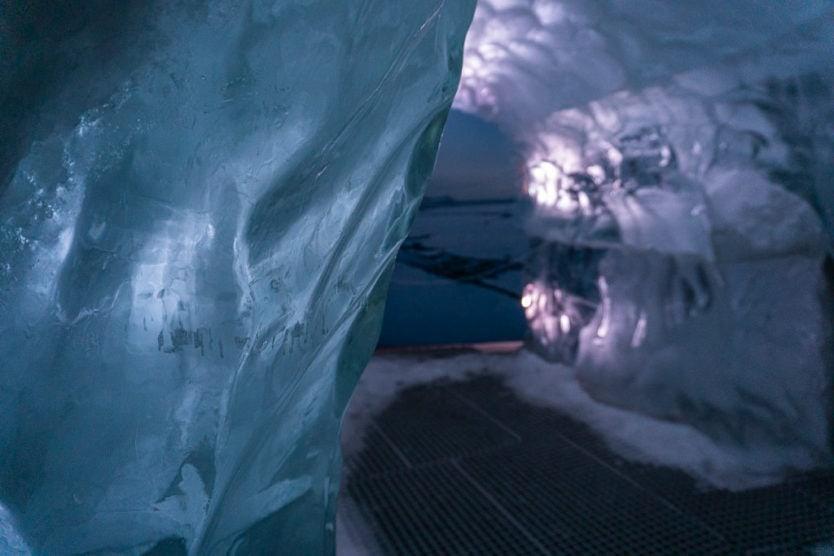 perlan museum in reykjavik real indoor ice cave
