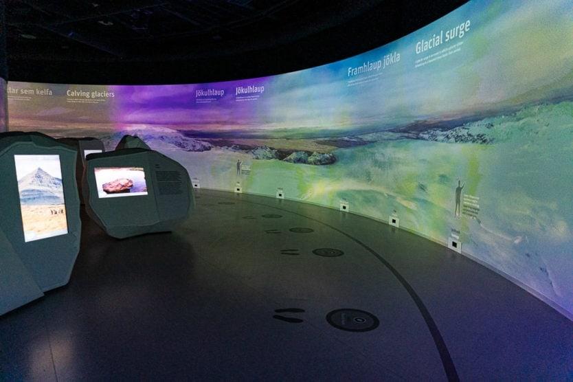 Interactive Glacier exhibition in the perlan museum