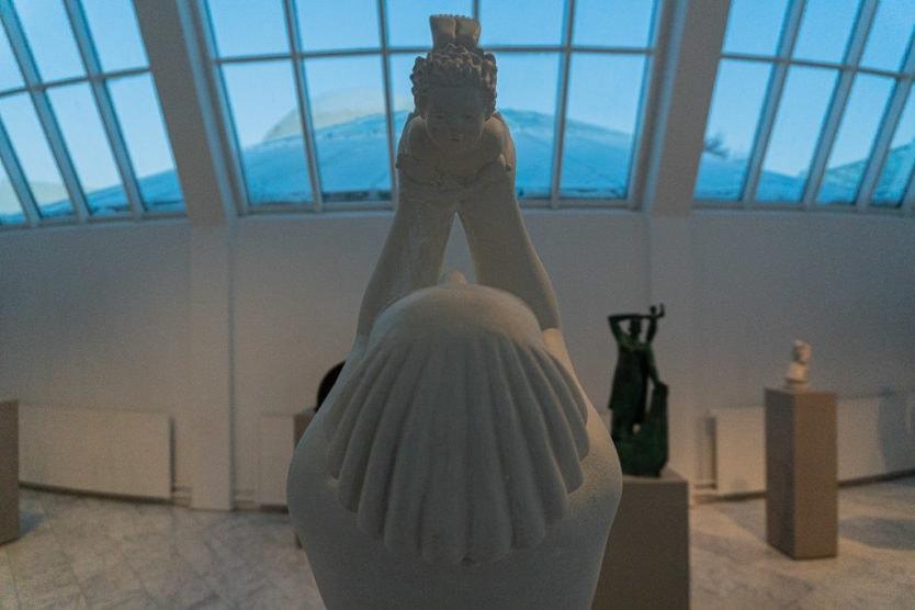 statue art inside the Ásmundarsafn - Reykjavík Art Museum