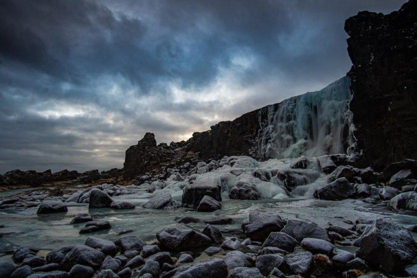 Þingvallir National Park waterfall