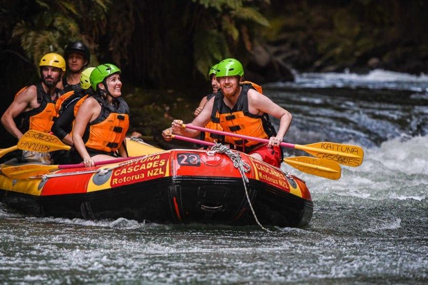 rotorua rafting with kaituna cascades