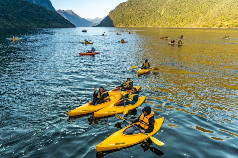 real journeys doubtful sound overnight cruise kayaking tour