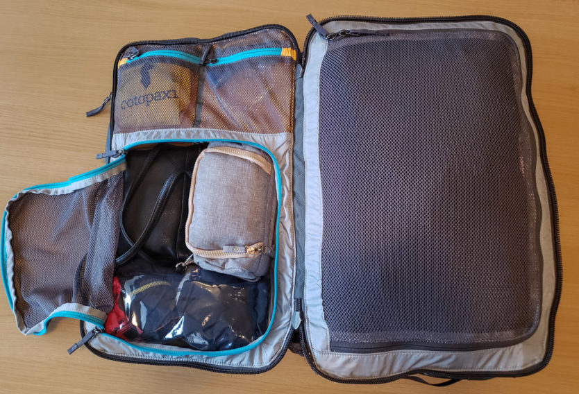packed cotopaxi allpa 35l bag