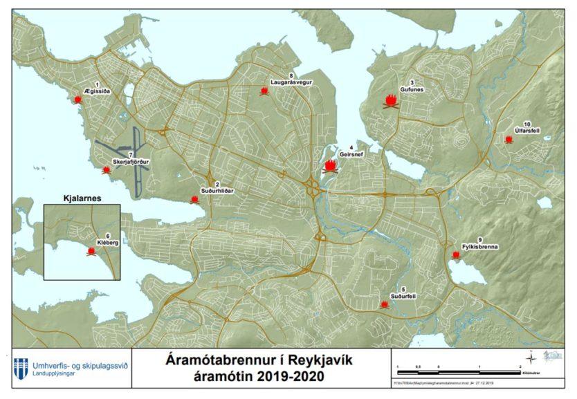 reykjavik bonfires