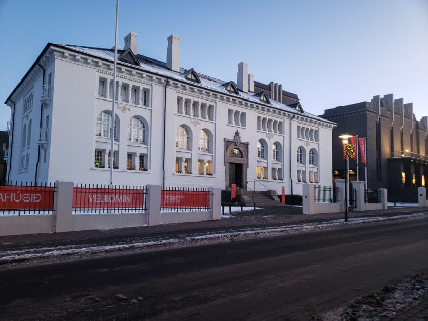 outside of the reykjavik culture house building