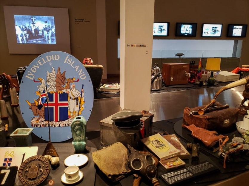 national museum of iceland display of Icelandic memorabilia