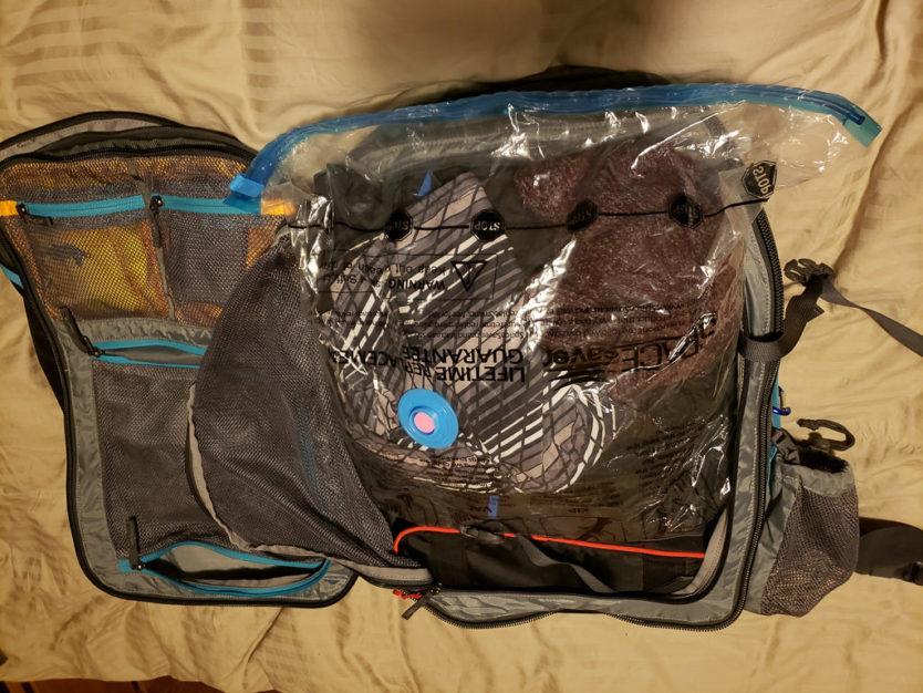 vacuum bag for minimalist packing