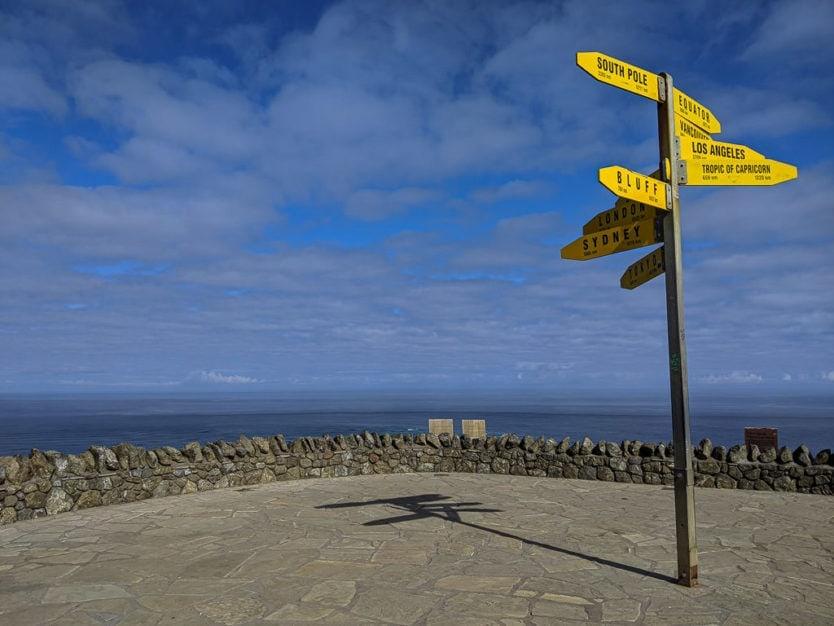 northland cape reinga lighthouse sign