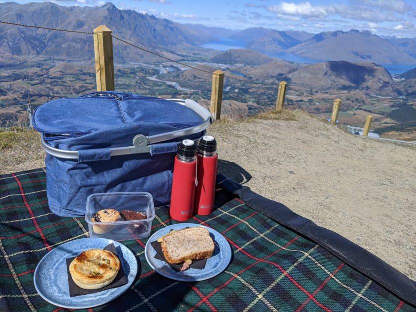 picnic basket at coronet peak near queenstown