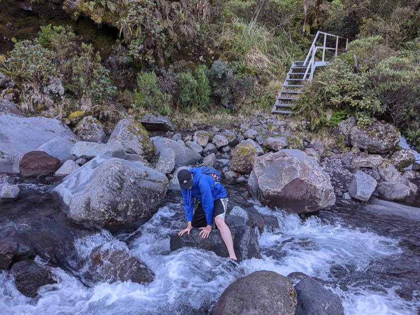 mt taranaki wilkies pools hike new plymouth nz