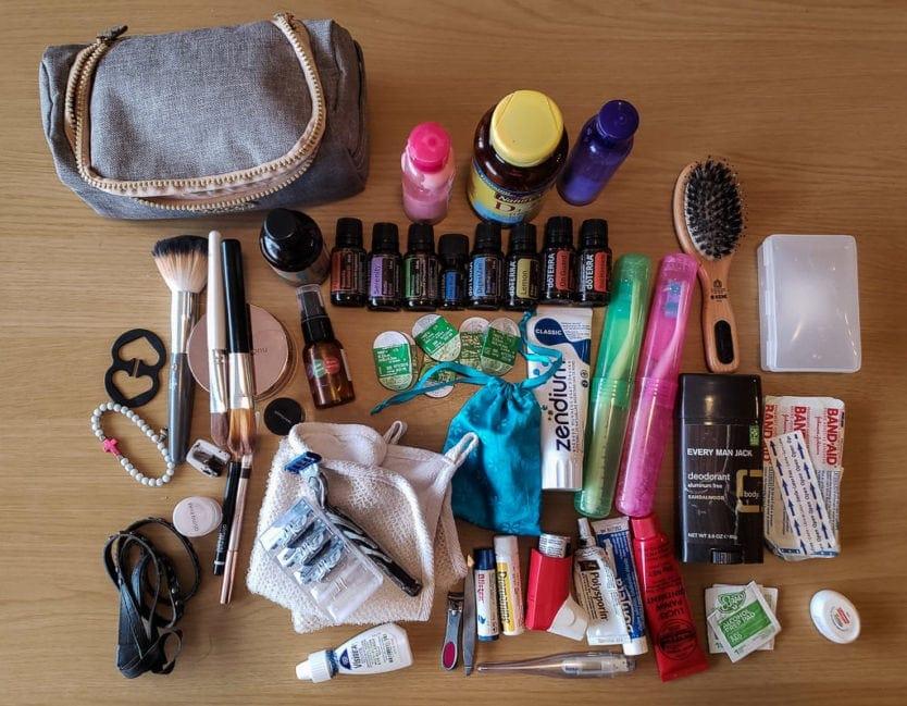 minimalist packing toilletries