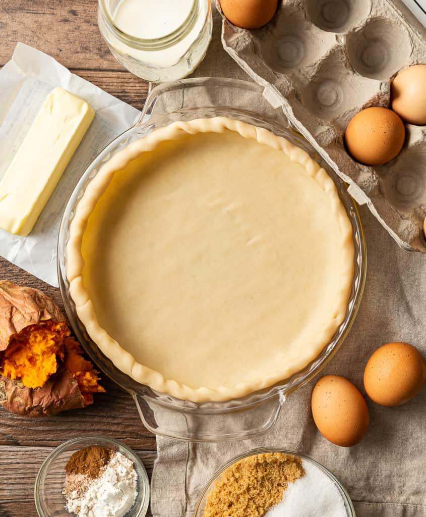 pie crust for sweet potato pie