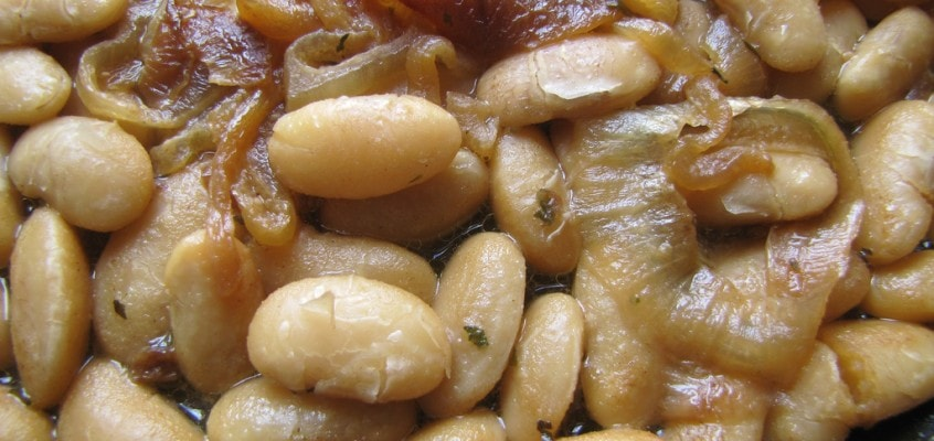Runner Beans with Caramelized Onions & Dijon Sauce
